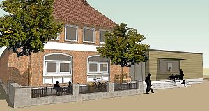Front-Ansicht Cafe