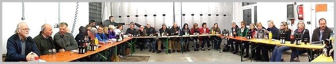Panorama-Foto der Einweisung der Arbeitsgruppen des Projektes Dorfladen Linsburg am 26.03.2014